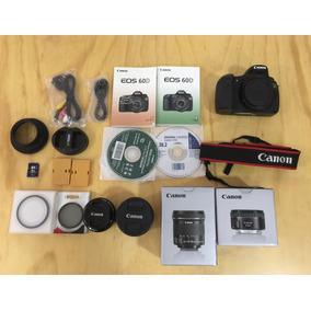 Canon 60d Combo Full Hd Profesional Pantallagiratoria