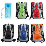 Mochila Hidratação Impermeável C/ Bolsa D`água Bike 2 Litros