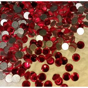 Piedra 100% Cristal Rojo Decoración Uñas Acrílico Swarovsky