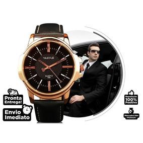 Relógio Yazole Quartz 358 Lindo Pulseira De Couro