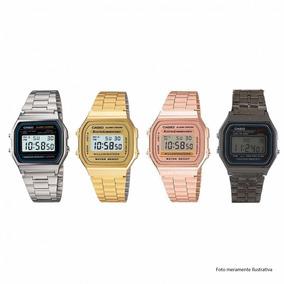 6673acd030c Relogio Dourado Paralelo - Relógio Casio Unissex no Mercado Livre Brasil