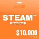Steam Colombia - Tarjeta De $10.000 Cop