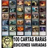 Lote De 100 Cartas Raras/miticas De Magic Sin Repetir