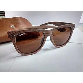 Oculos Rayban Madeira + Case De Couro + Certificado - Novo
