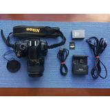 Cámara Nikon D300 Con Lente Afs Nikkor 18-55mm Con Accesor.