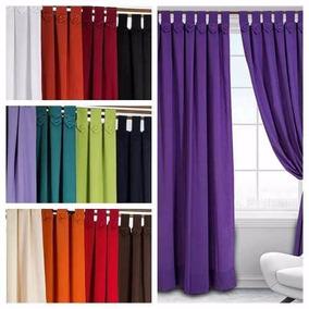 Cortinas de tela para living cortinas convencionales en for Precio de cortinas