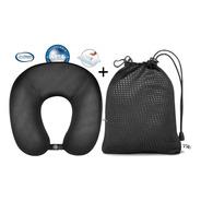 Almofada Nasa Travesseiro Anatomico Pescoço Viagem Botão Bag