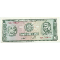 Peru 5 Soles De Oro 1970