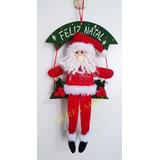 Papai Noel No Balanço Guirlanda Decorativo Natal Enfeite