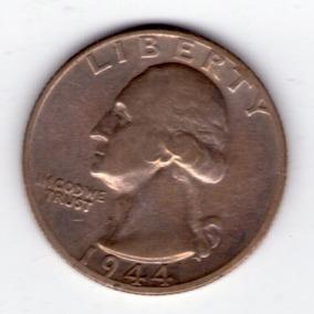 Estados Unidos 1/4 Dolar De Plata 1944s Excelente