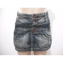 Mini Saia Curta Lança Perfume Jeans Tam P Usado Bom Estado