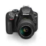 Câmera Digital Slr Nikon D3400 - 24.2mp / 18-55mm Preta