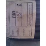 Cable Thw N°6 De Cobre, Por Rollos Color Negro.