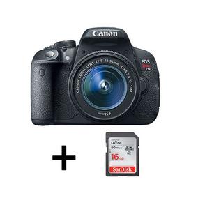 Cámara Canon T5i Con Lente 18-55mm + Memoria 16gb