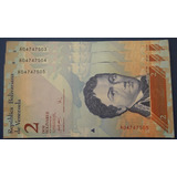 Billete 2 Bs, 20 De Marzo Del 2007 Unc Serial A