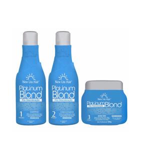 Ps Kit Matizador Platinum Blond New Liss Hair Violet Loiras