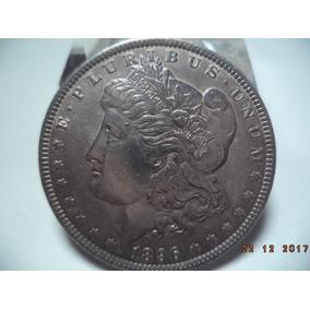 Moeda De Prata One Morgan Dollar 1896 - Estados Unidos - Fc