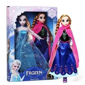 Kit Bonecas Musical Frozen Anna Elsa 30cm Top P/entrega