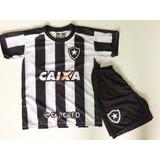 Conjunto Infantil Botafogo Bota Novo 2017 Uniforme Kit Fogo 0b66d34891898