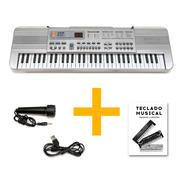 Piano Teclado Musical Infantil Microfono Mq813 Usb Full