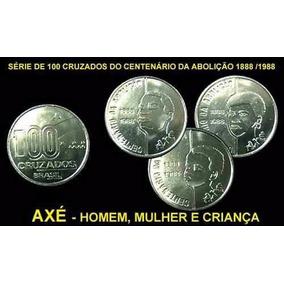 Moeda Axe Série Cent. Abolição Dos Escravos F.c.