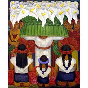 Lienzo Tela Arte Canvas Flores Diego Rivera 1931 80 X 100 Cm