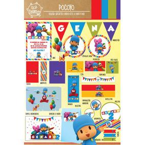 Kit Imprimible Personalizado Pocoyo Candy Bar Deco !