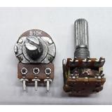 Potenciômetro Linear Rotativo C/chave 10k Eixo 20mm 200 Pças