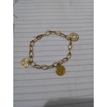 Pulseira Feminina Ouro 18k-750 Com 9,3 Gramas