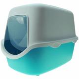 Banheiro Gatos Sanitario Cathy Com Filtro Coberto - Azul