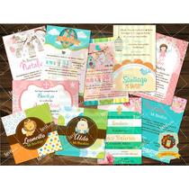 Invitaciones Bautizo Baby Shower Cumpleaños Primera Comunión
