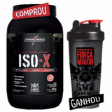 Iso-x Whey Isolado 907g Integralmedica Chocolate + Brinde