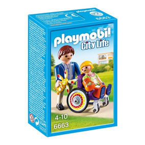 6663 Playmobil Cidade Hospital Crianca Na Cadeira De Rodas