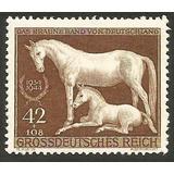 Grr-timbre Postal Alemania Nazi - Yegua Y Potrillo 1944