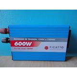 Convertidor Inversor De Tension 600 Watts 12 V. A 220v Usb