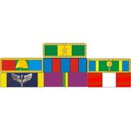 Placa Com 7 Barretas De Medalhas - Fixação Por Imã