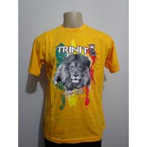 Camiseta Trinite Leão Reggae Roots One Love Crazzy Store