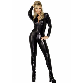 Catsuit Vinpiel Sexy Cuero Erotico Fetich Hallowen Latex N