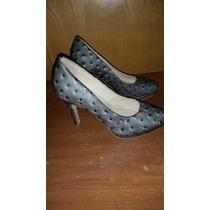 Zapatos Clásicos Cuero Dama Daniel Cassin Nº 35 Taco 10cm.