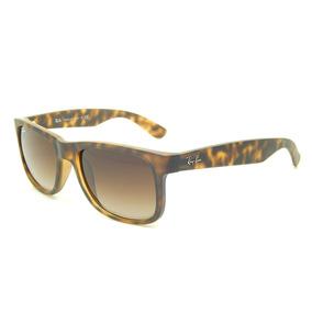 5835d8023bbfb Lente Ray Ban Justin Rb4165 710 13 Havana brown Gradient 51 - Óculos ...