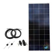 Panel Solar 150 W Policristalino + Mc4 + Diodos Proteccion