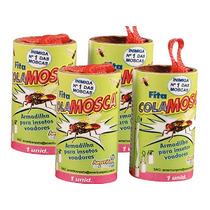 Armadilha Pega Mosquito Mata Insetos Fita Cola Mosca 4 Peças