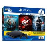 Playstation 4 Slim 1tb Con 3 Juegos Ps4 Tienda Movilshopcr