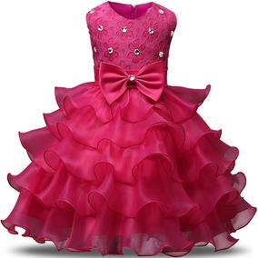 Vestido De Niña Rosa Bodas Fiestas Comunion Nnjxd