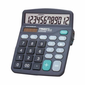 Calculadora Truly 837a-12 Com 12 Dígitos Amplo Visor Lcd/bat