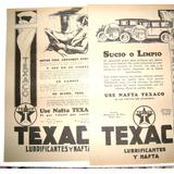 Texaco Aceite Auto Antiguo 8 Publicidad 1925 20x30 Nafta