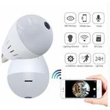 Cámara Ip Wifi 1080p Ojo De Pez Fisheye 360°+ Gratis Sd