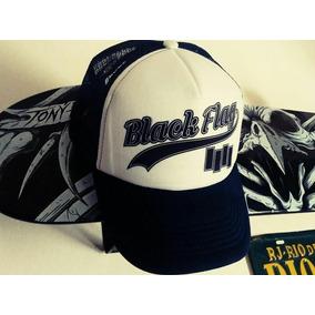 Trucker Azul Oscura Black Flag Hardcore