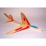 Kit Do Aeromodelo Planador Para Vôo Livre Flecha Dourada