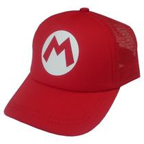 Gorras Para Niños - Super Mario Bros - Mario